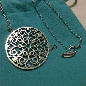 Tiffany & Co 925 Enchant Round Pendant Necklace